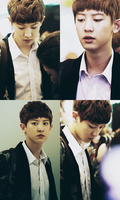 Chanyeol serious face by namjachingo
