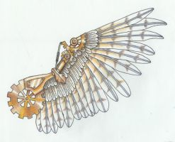 steampunk armor design-wings by MechanicalHyena