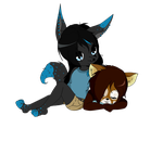 YCH - Two Chibis - Commission for PandaTJ by Micha19