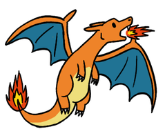 Derpish Chibi Charizard by Mightyenapup