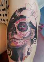 catrina tattoo IN PROGRESS... by graynd
