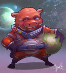 Space Pig by Mi-Wi