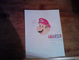 My Drawing of Mario by ksl13