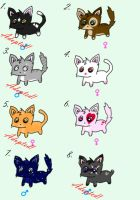 Kitty Adoptables by Bringer-of-Evil