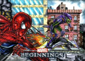 Spidey and Green Goblin by DKuang