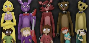 FNaF WALLPAPER The Children... by InsanelyADD