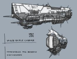 Vagyr Battle Carrier by 4-X-S
