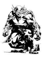 JLA January Etrigan the Demon inks SOTD by RobertAtkins