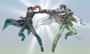 Crossover Sao Vs Log Horizon by Nick-Ian