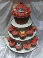Giant cupcake tower by starry-design-studio