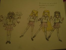 cosplaying as lucky star girls by firesword7