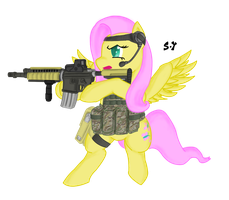 My Little Commando Friendship is Magic- Fluttershy by Miniyippo