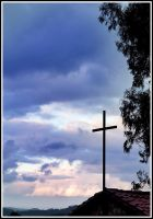 Cross in the blue sky by jmorante77