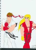 Street Fighter: Ryu and Ken 2 by Zhang-chen