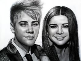 Justin Bieber and Selena Gomez by jardc87