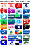 Social Networks Colorflow Iconset by SamirPA