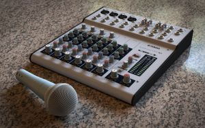 Mixer and Mic by ryanrybot