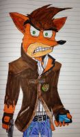 Crash Bandicoot as Aiden Pierce by AwesomeLatinoArtist