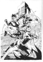 Batgirl Annual cover - pencils and inks by Ed-Benes-Studio