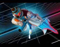Kamen Rider Fourze Cosmic Alter Sketch by PioPauloSantana