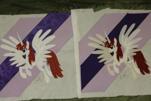 Lauren Faust signed Quilt Squares by WhiteDove-Creations