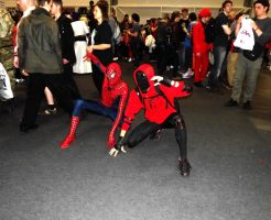 Me and Spidey at Comic Con London 2013 (colour) by ezy94