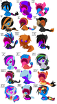 SmileyxHypnos SmileyxCanvas Foals CLOSED by BrokenMirrors-Adopts