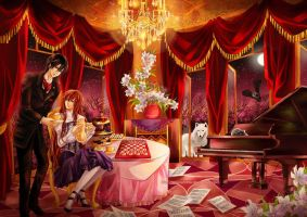 Com: Midnight Tea Party by NilaNandita