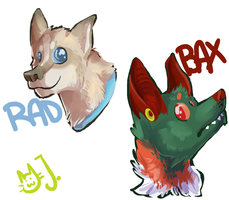 headshot painting doodles by catfarts