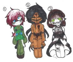 Creepypasta/Horror Adoptables #2  *CLOSED* by GhosterGheist