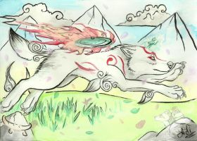 Okami Fan art by ariadnedalua