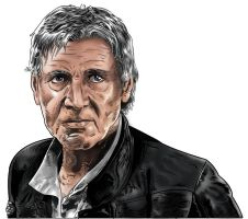 Han Solo -then and now WIP 2 by Lannytorres