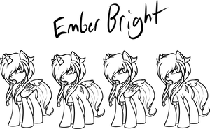 Ember Bright Reference Sheet WIP by TheRebelPhoenix