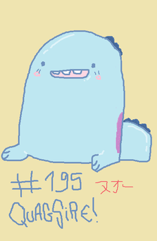 Mouse Drawn QUAGSIRE by SpaceWaffleDelivery