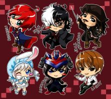 Commissioned Chibis set 4 by Red-Birdie