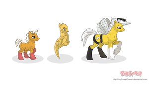 Bee Family Ponikemon by MySweetQueen