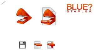 Blue Stapler Application Icons by styl-x
