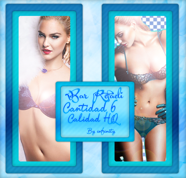 pack PNG de Bar Refaeli by vampiradeco