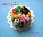 Miniature cake - Harlequin's Carnival by miniacquoline