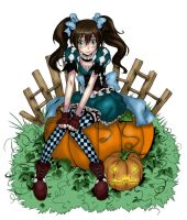 the pumpkin girl by QTpie4753
