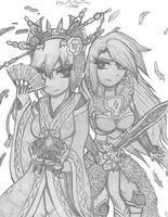 Brave Frontier - Kikuri and Sefia by Confectionism