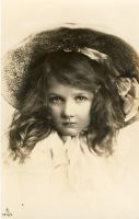 vintage postcard girl III by MementoMori-stock