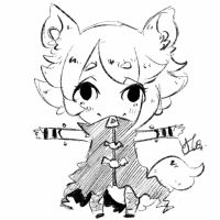 Chibi Sketch Comm 4 by Yu-Tanni
