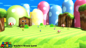 (MMD Stage) Grass Land (NSMBWii) Download by SAB64