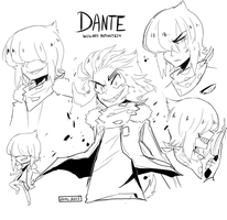 some Dante sketches by Rika-Wawa