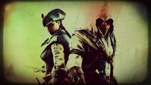 Aveline and Connor by AD-UK