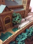 Hogwarts Castle Paper Model - The Green Houses by ana-wandmaker