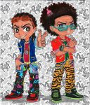 Huey and Riley (P and S style) Color by uber-neko