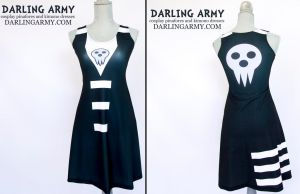 Death the Kid Soul Eater Printed Cosplay Dress by DarlingArmy