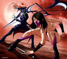 Mileena Vs Jedah !! by ZabZarock